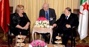 Bouteflika et la présidente de Malte