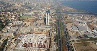 An aerial view taken on April 26, 2016, from a police helicopter above Algiers shows the construction site of the third largest mosque in the area and the largest in Africa. Algeria is building one of the world's largest mosques which officials say will serve as a buffer against radical Islam and crown the legacy of President Abdelaziz Bouteflika. The Djamaa El Djazair mosque is being built facing the picturesque bay of Algiers as part of a complex that will include a one-million book library, a Koranic school and a museum of Islamic art and history.   / AFP / STRINGER / TO GO WITH AFP STORY  ABDELLAH CHEBALLAH        (Photo credit should read STRINGER/AFP/Getty Images)