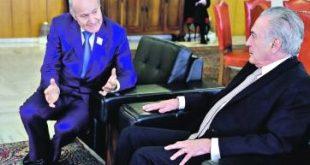DIA-rebarb avec le président brésil