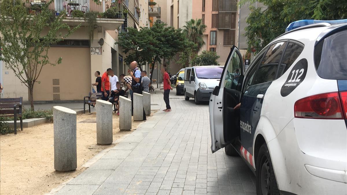 Barcelona  7 9 2017  apunalamiento en el Pou de la Figuera   FOTO  GUILLEM SANCHEZ