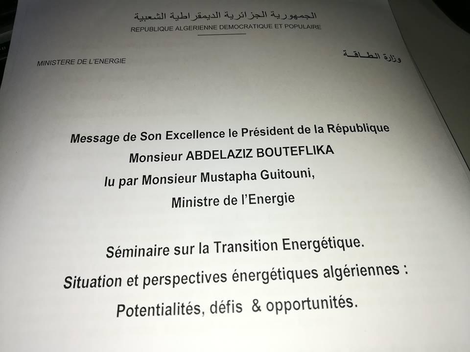 DIA-Message du président