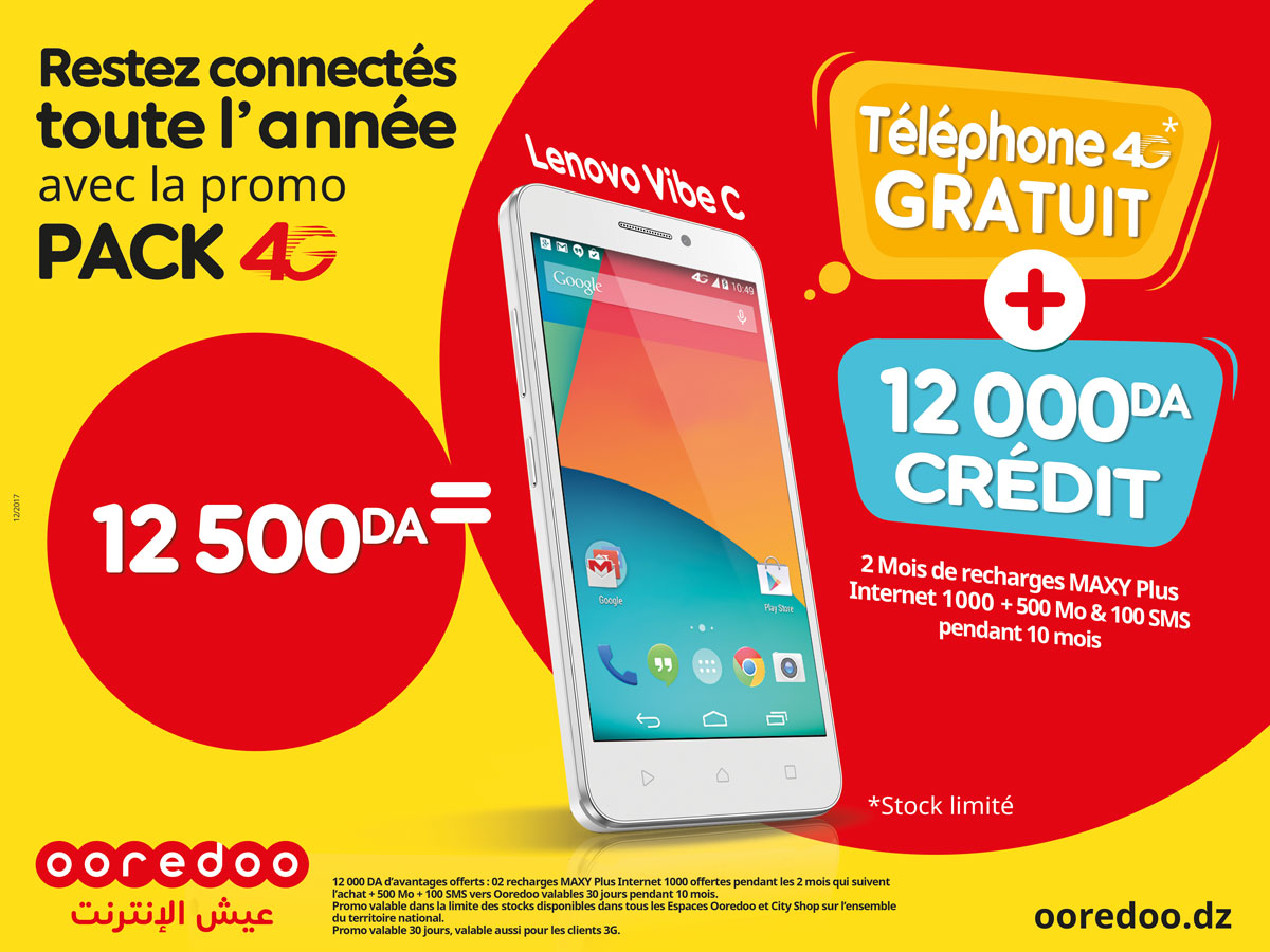 DIA-Ooredoo Pack 4G