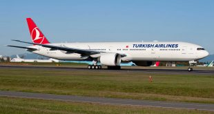 A Turkish Airlines Boeing 777-300ER.