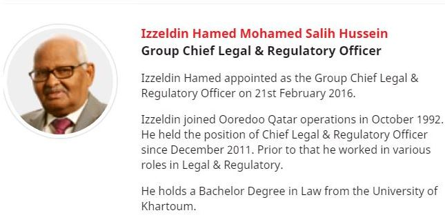 DIA-CEO LEGAL OOREDOO