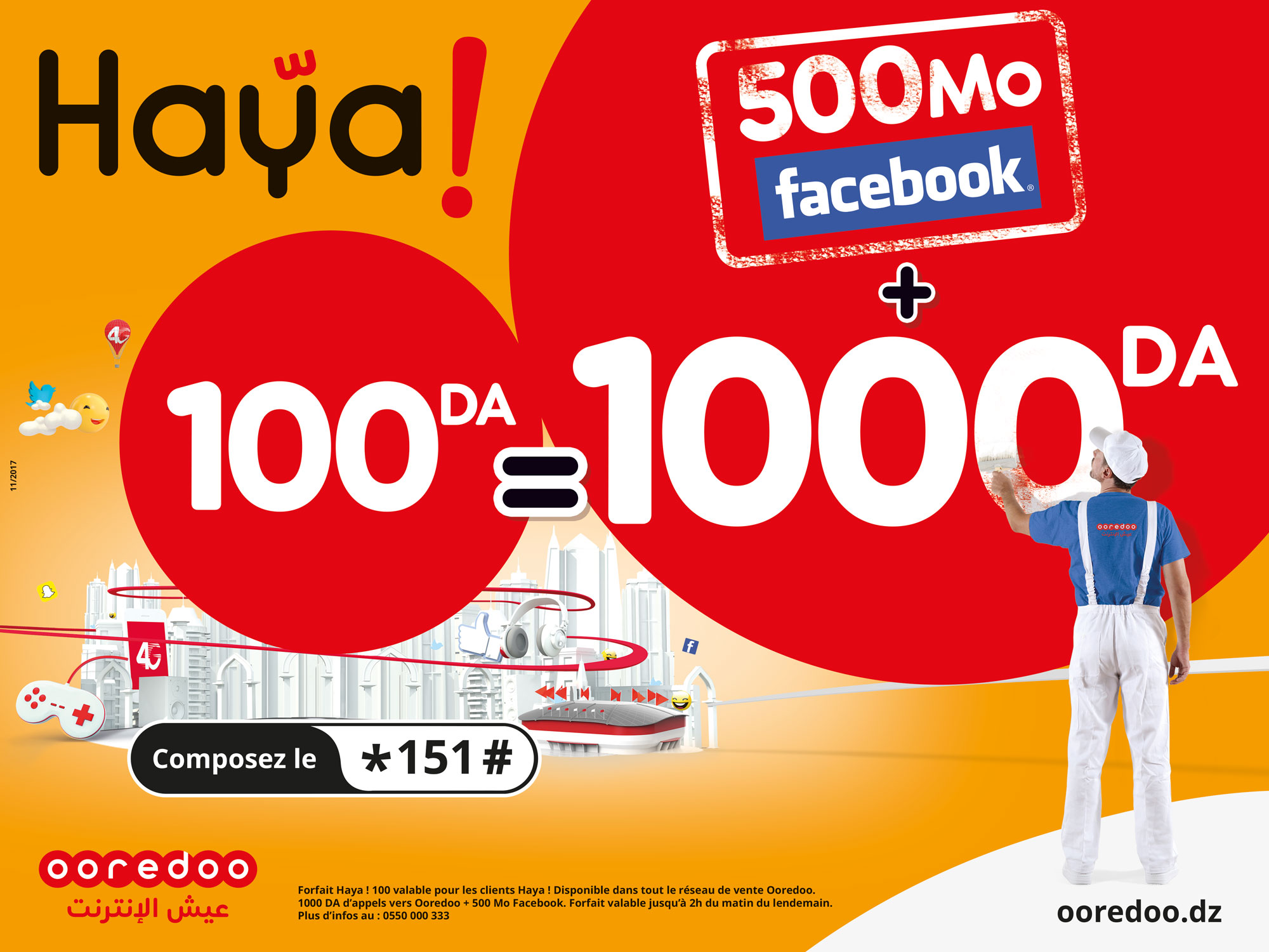 DIA-Le forfait Haya! 100 de Ooredoo devient permanent