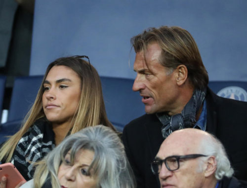 PARIS, FRANCE - NOVEMBER 18:  Herve Renard and his daughter Candide Renard attend the Ligue 1 match between Paris Saint-Germain (PSG) and FC Nantes at Parc des Princes on November 18, 2017 in Paris.  (Photo by Xavier Laine/Getty Images)