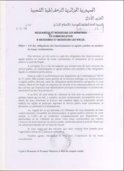 #niquab_algerie_interdiction