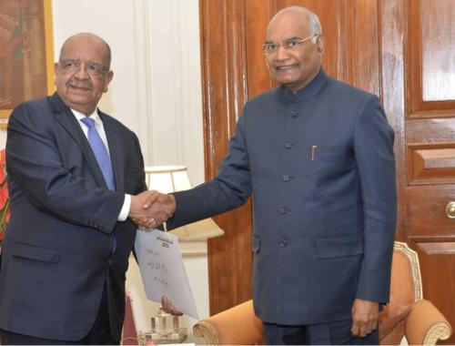 Messahel et Président Inde