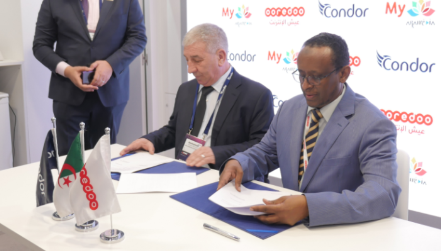 Photo Ooredoo et Condor signent une collaboration