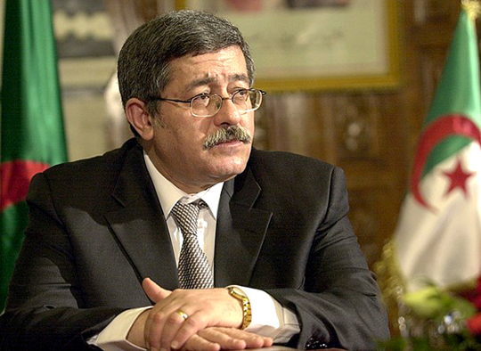 FILES- This file picture shows Algerian Prime minister Ahmed Ouyahia after signing an agreement treaty on February 16, 2006, at the Kasbash palace in Tunis. Algerian President Abdelaziz Bouteflika reappointed Ouyahia prime minister for the third time on April 27, 2009 and made a minor reshuffle of his former cabinet on the same day.  AFP PHOTO/FETHI BELAID (Photo credit should read FETHI BELAID/AFP/Getty Images)