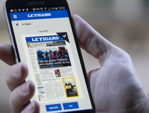 L'application pour téléphones mobiles, permettant de lire Le Figaro.